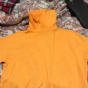 Vibrant Yellow Turtleneck